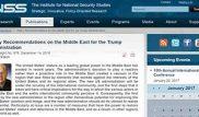پیشنهادات مرکز مطالعات امنیت ملی رژیم صهیونیستی (INSS) به ترامپ درباره غرب آسیا