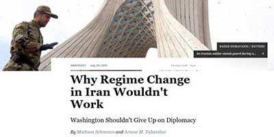 ازادی1 400x200 - تغییر رژیم در ایران جواب نمیدهد/ دیپلماسی کلید تغییر رفتار ایران!